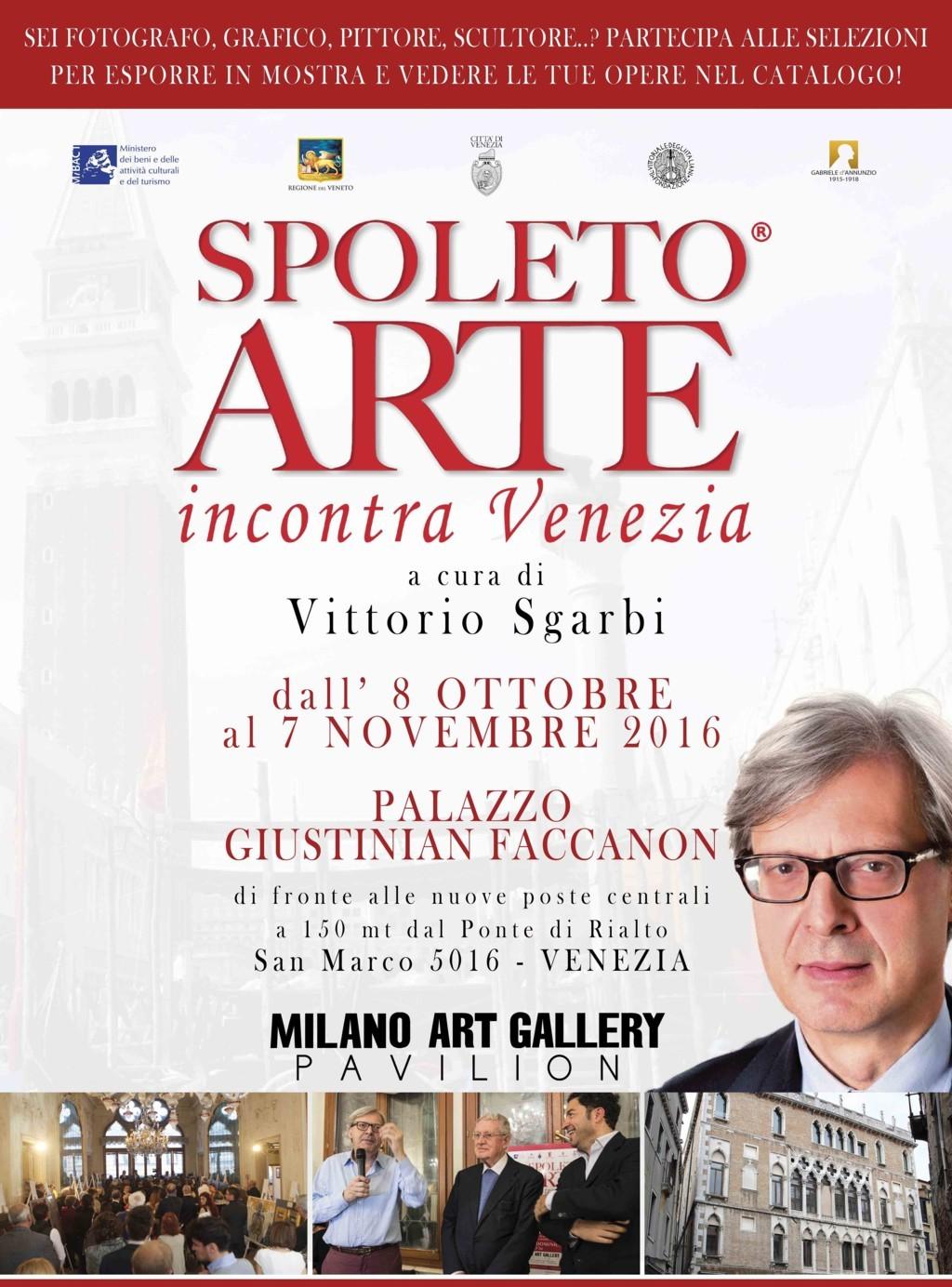 Spoleto Arte incontra Venezia: si apre la grande mostra presentata da Sgarbi